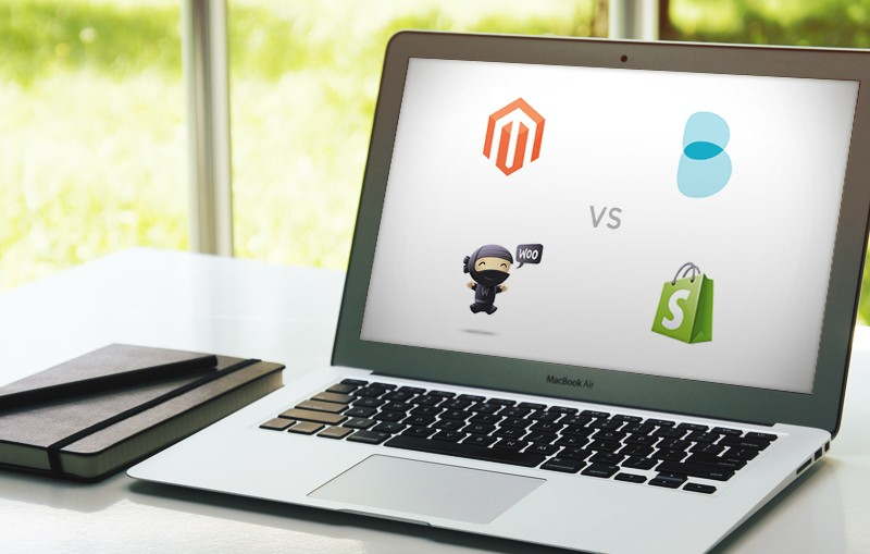 Magento, shopify, Woo Commerce