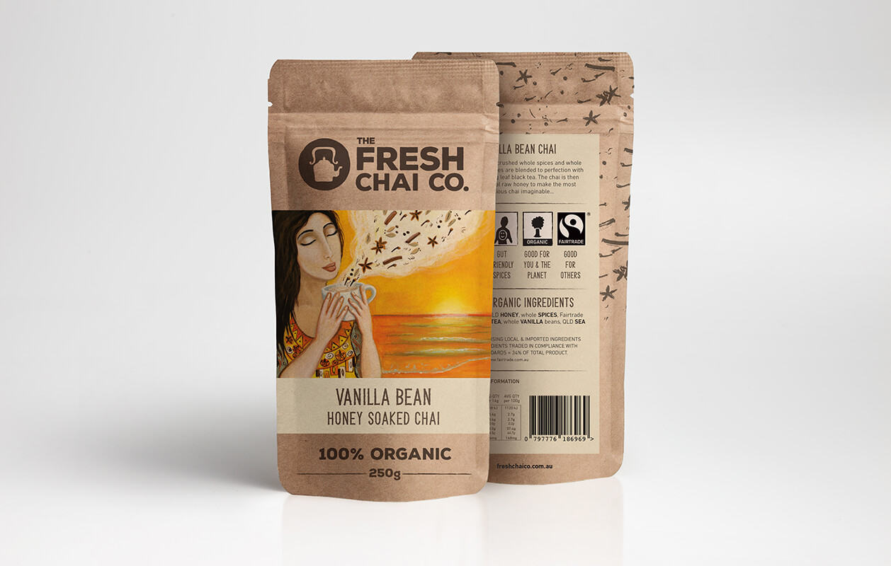 Fresh-Chai-Co logo design melbourne