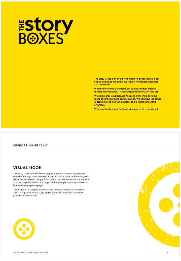The Story Boxes Brand Guide | brand identity