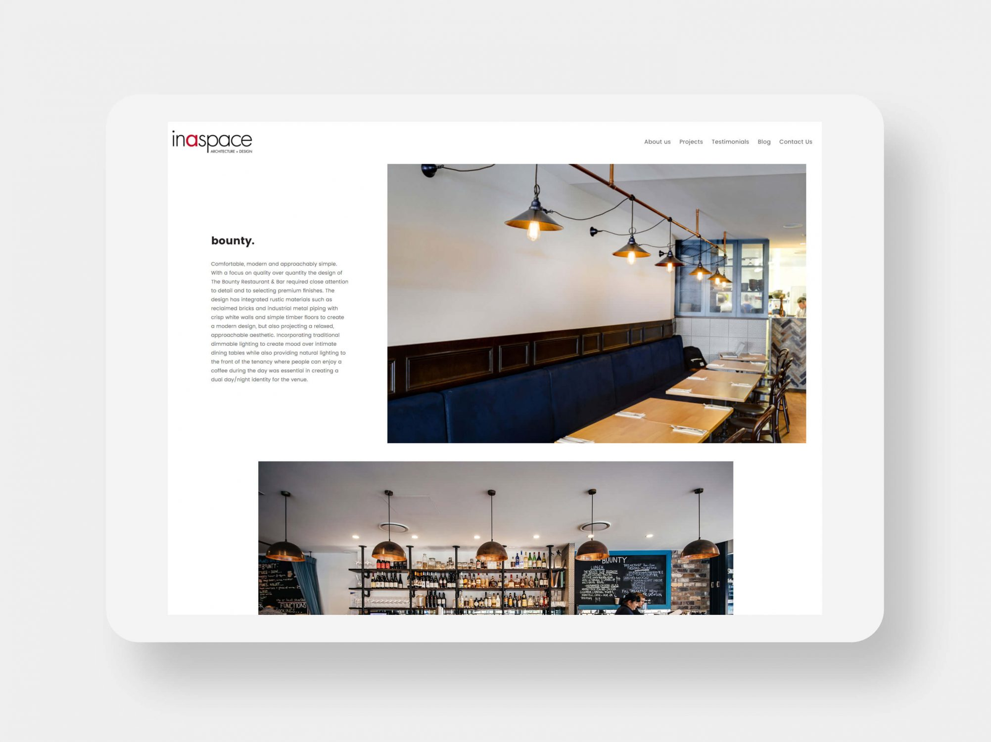 Inaspace Website Mockup 6