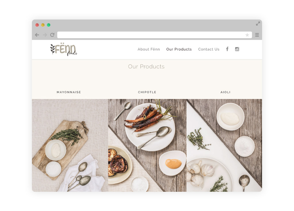 Fenn Foods had their Logo & Website Designed By a Brisbane Design Agency